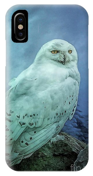 Moonlit Snowy Owl IPhone Case