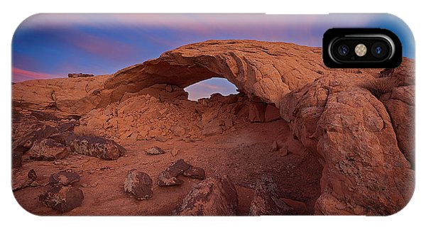 IPhone Case featuring the photograph Moonrise Arch by Edgars Erglis