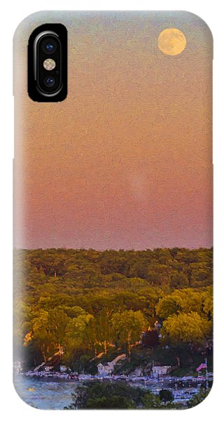 Moonrise Fontana - Lake Geneva Wisconsin IPhone Case