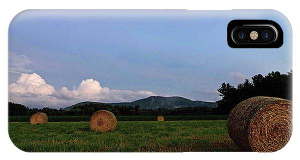 Twilight iPhone Case - Moonrise Hayfield by Jerry LoFaro
