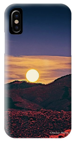 Moonrise In Northern New Mexico  IPhone Case