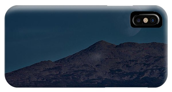 Moonrise Mount Adams IPhone Case