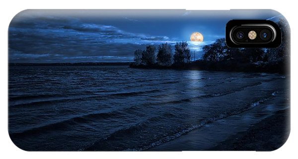 Moonrise On The Beach IPhone Case