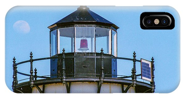 Moonrise Over Edgartown Lighthouse IPhone Case