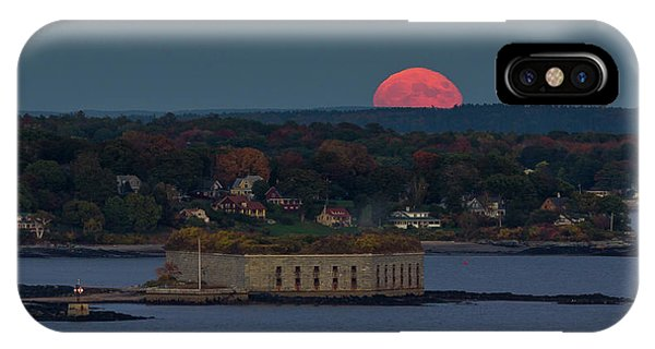 Moonrise Over Ft. Gorges IPhone Case