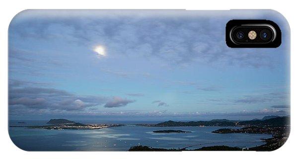 Moonrise Over Kaneohe Bay IPhone Case