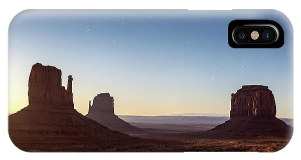 Moonrise Over Monument Valley IPhone Case
