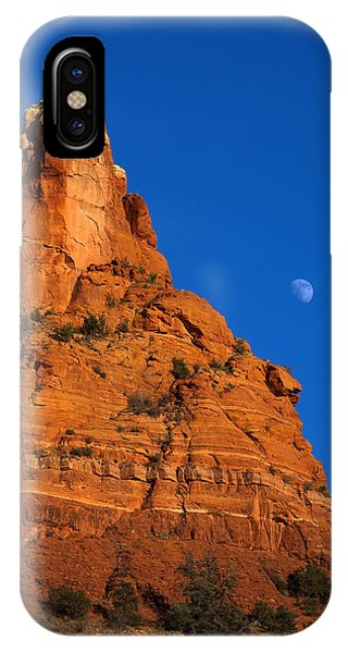 Moonrise Over Red Rock IPhone Case