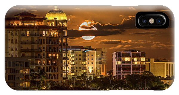 Moonrise Over Sarasota IPhone Case