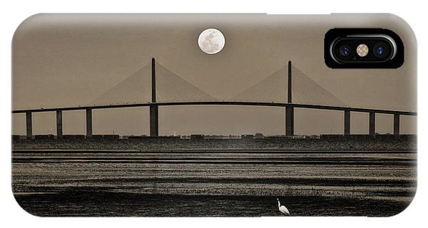 Moonrise Over Skyway Bridge IPhone Case