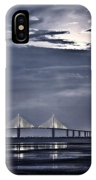 Moonrise Over Sunshine Skyway Bridge IPhone Case