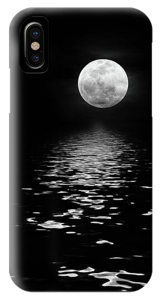 Moonrise Over The Atlantic IPhone Case