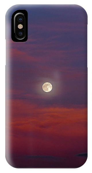 IPhone Case featuring the photograph Moonrise, Sunset by Jason Coward