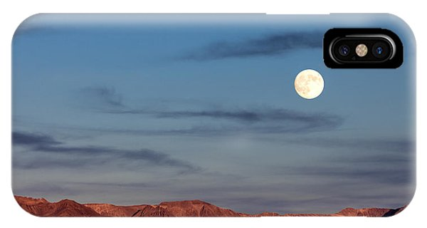 IPhone Case featuring the photograph Moonrise With Afterglow by Denise Bush