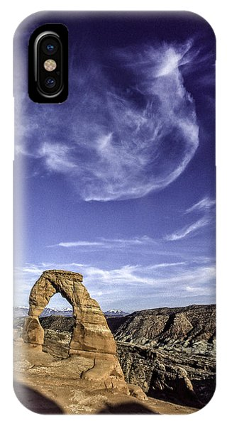 Moonset Delicate Arch IPhone Case
