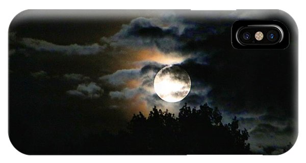 Moonset In The Clouds 2 IPhone Case