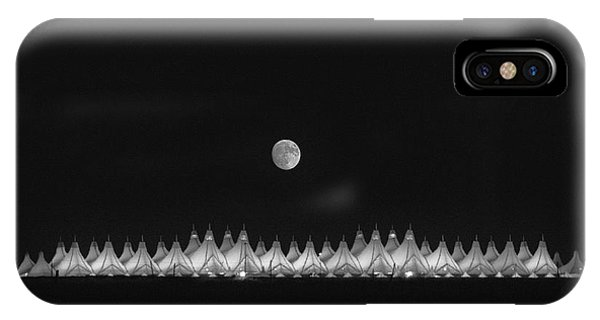 Moonset Over Dia IPhone Case