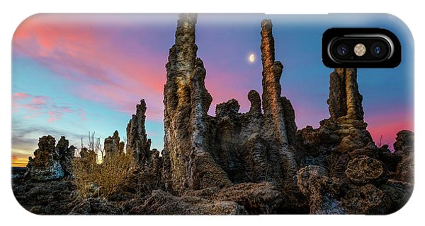 Moonset Over Mono Lake IPhone Case