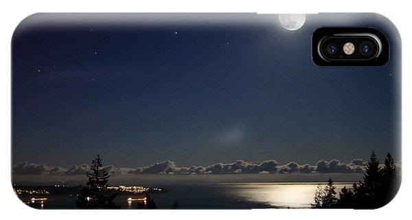 Moonshine Over English Bay IPhone Case