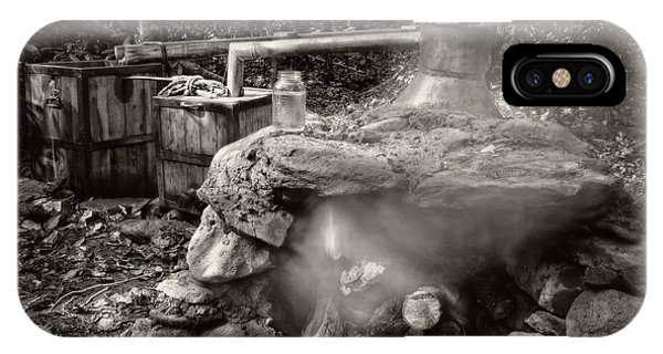 Moonshine Still In Black And White With Border IPhone Case