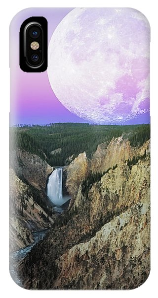 Full Moon iPhone Case - My Purple Dream by Edgars Erglis
