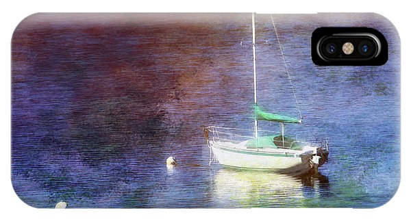 Moored Sailboat IPhone Case