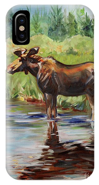 iPhone Case - Moose At Henry's Fork by Maria Reichert