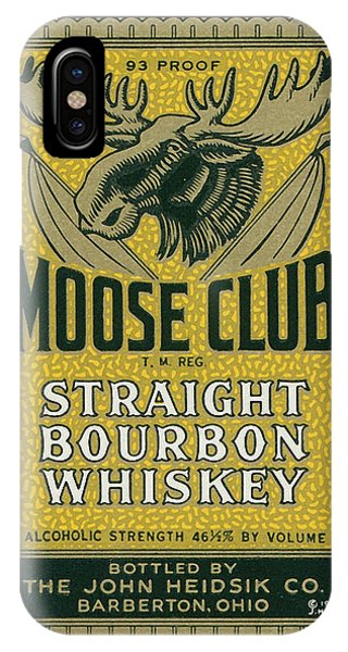 Whiskey iPhone Case - Moose Club Bourbon Label by Tom Mc Nemar