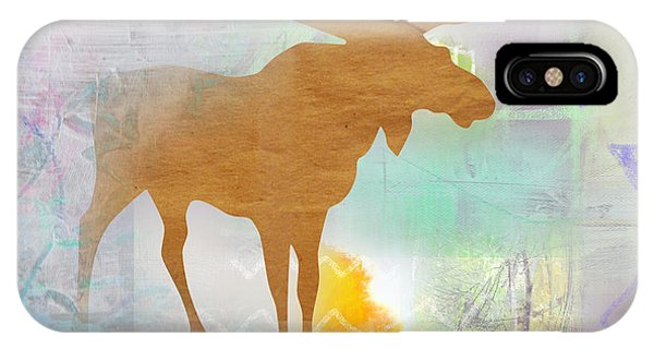 Moose In The Fog  IPhone Case