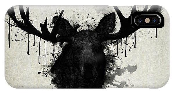 Bull iPhone Case - Moose by Nicklas Gustafsson