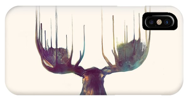Christmas iPhone Case - Moose // Squared Format by Amy Hamilton