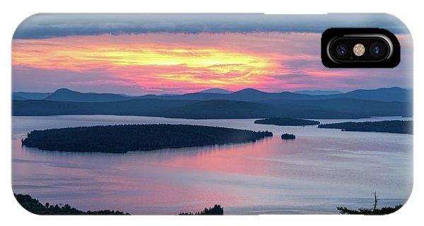 Mooselookmeguntic Lake In The Last Light Of Day - Rangeley Me  -63430 IPhone Case