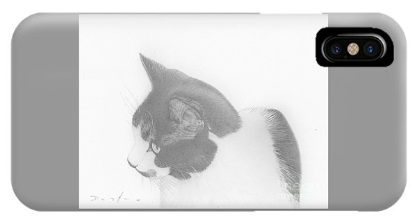 Moozie Cat Drawing IPhone Case
