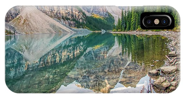 IPhone Case featuring the photograph Moraine Lake 2009 04 by Jim Dollar