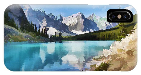 Moraine Lake At Banff National Park IPhone Case