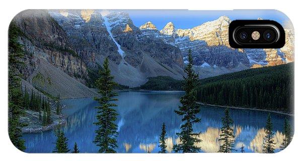 Moraine Lake Sunrise Blue Skies IPhone Case