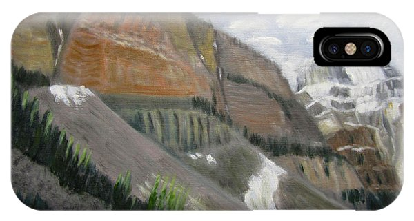 IPhone Case featuring the painting Valley Of The Ten Peaks by Linda Feinberg