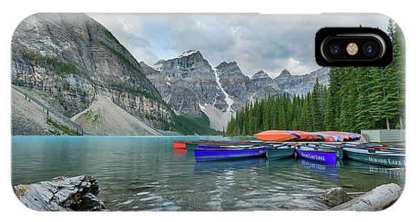 Moraine Logs And Canoes IPhone Case