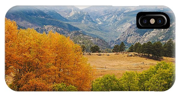 Moraine Park In Rocky Mountain National Park IPhone Case
