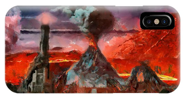 Mordor Panorama IPhone Case