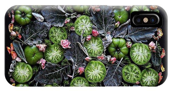 More Green Tomato Art IPhone Case