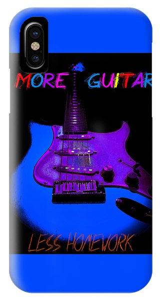 IPhone Case featuring the photograph More Guitar Less Homework by Guitar Wacky