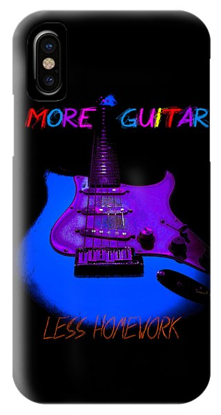 More Guitar Less Homework IPhone Case