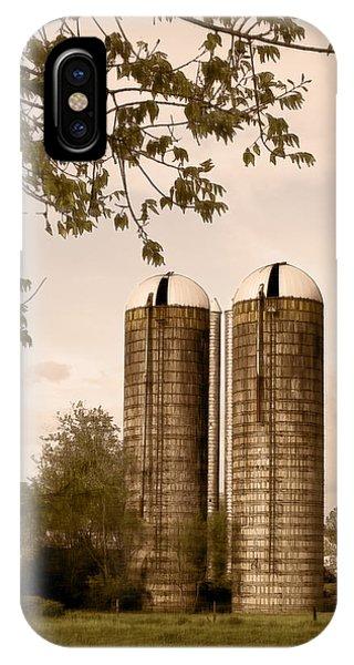 Morgan Dairy Grain Silos IPhone Case