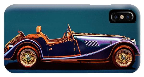 Oldtimer iPhone Case - Morgan Roadster 2004 Painting by Paul Meijering