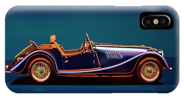 Vehicles iPhone Case - Morgan Roadster 2004 Painting by Paul Meijering