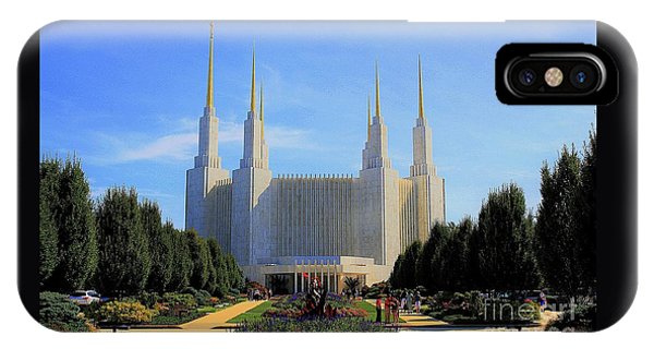 Mormon Temple Dc IPhone Case