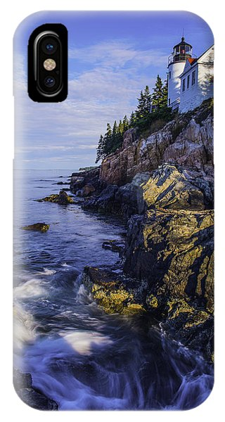 Morning At Bass Harbor Lighthouse IPhone Case