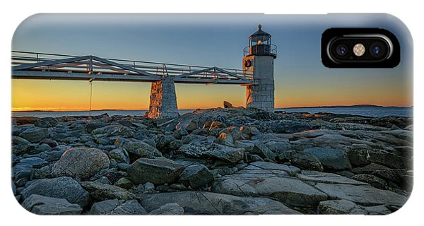 Navigation iPhone Case - Morning At Marshall Point by Rick Berk