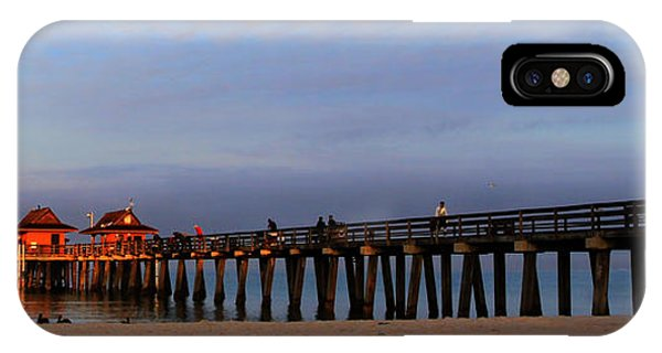 Morning At The Naples Pier IPhone Case
